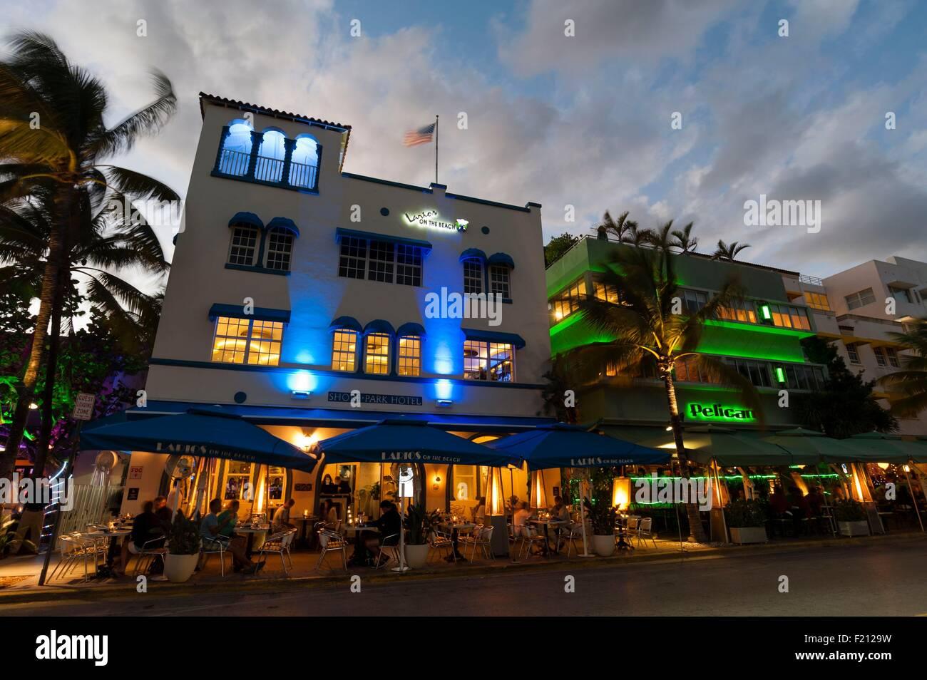 United States Florida Miami Beach South Beach Ocean Drive Shore Park Hotel