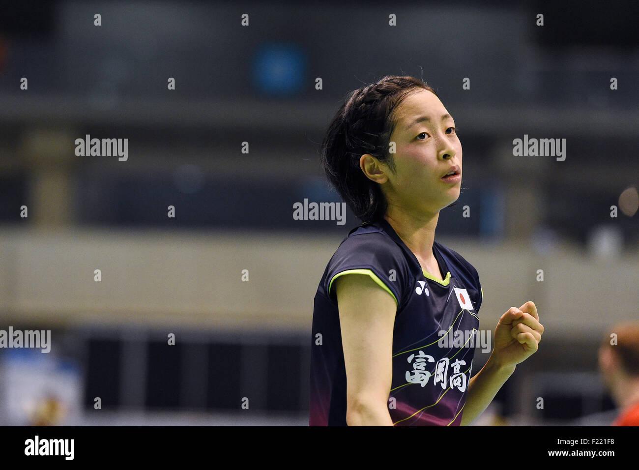 Tokyo Metropolitan Gymnasium Tokyo Japan 9th Sep 2015 Saena