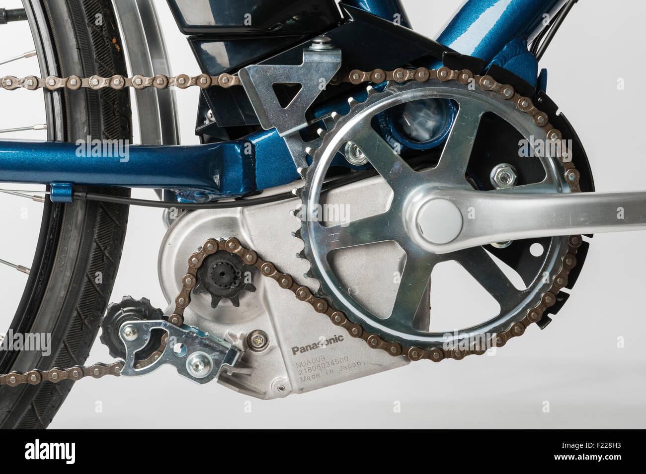 e motion electric bike detail of the panasonic motor on. Black Bedroom Furniture Sets. Home Design Ideas