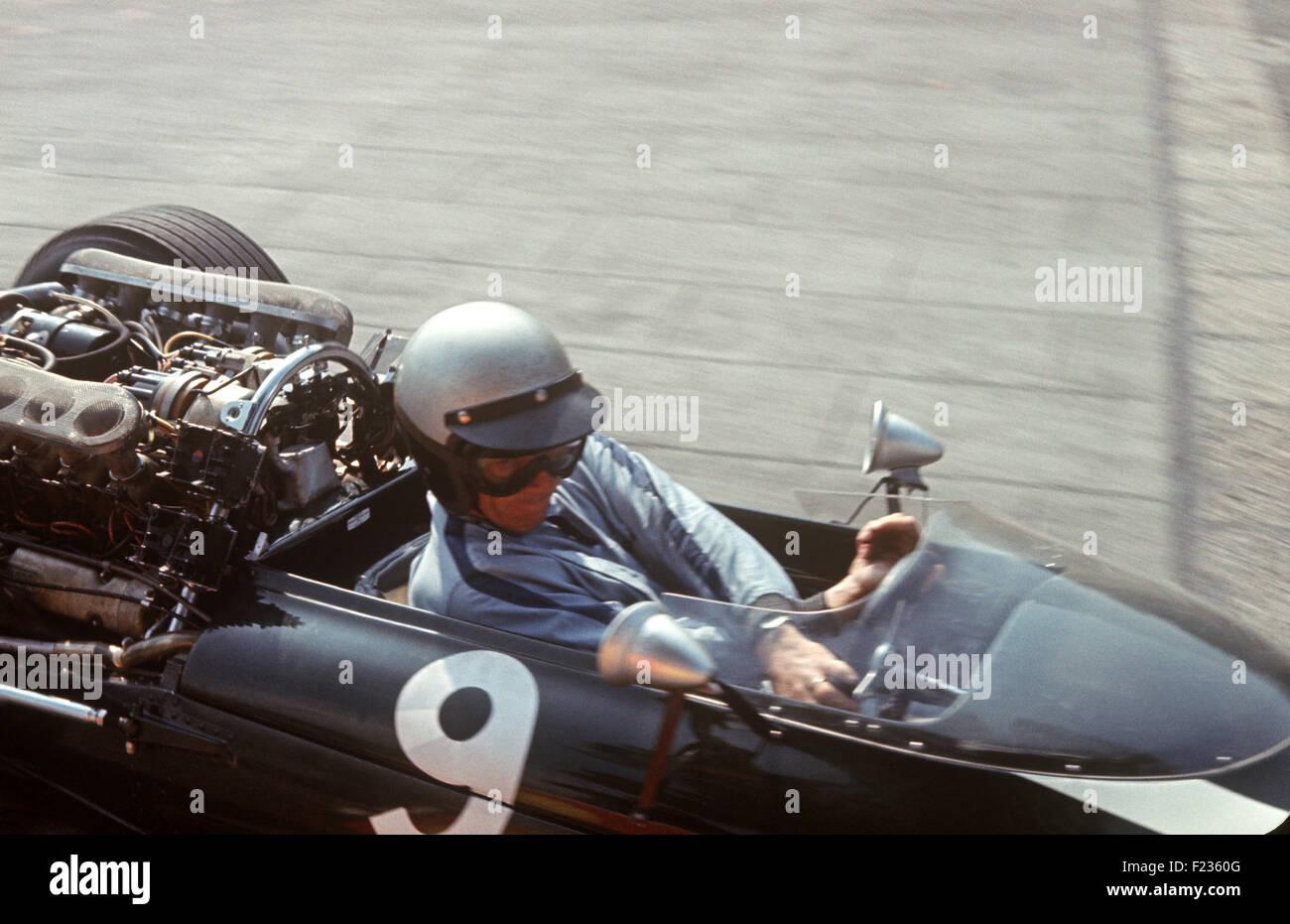 Richie ginther in cooper maserati no 9 monaco gp 22 may 1966 stock