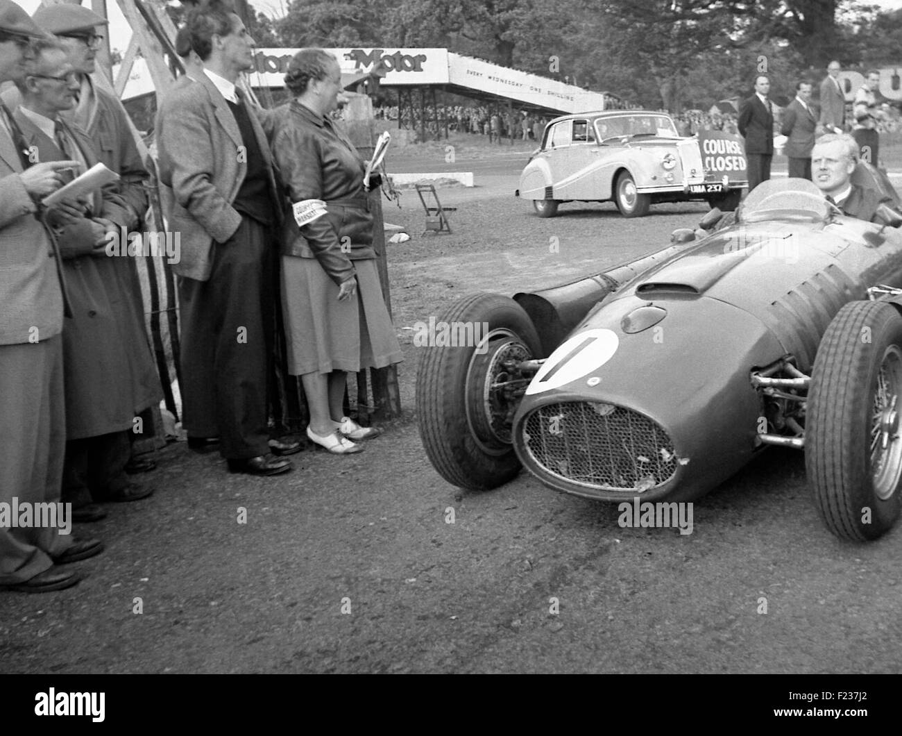 Lancia d50 stock photos lancia d50 stock images alamy mike hawthorn in a lancia ferrari d50 international gold cup at oulton park 1955 stock vanachro Gallery