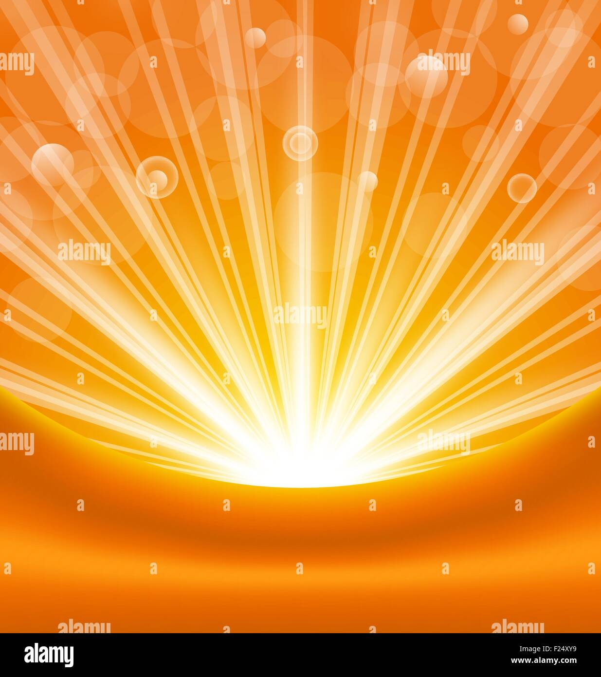 Photo Collection Background With Orange Sun