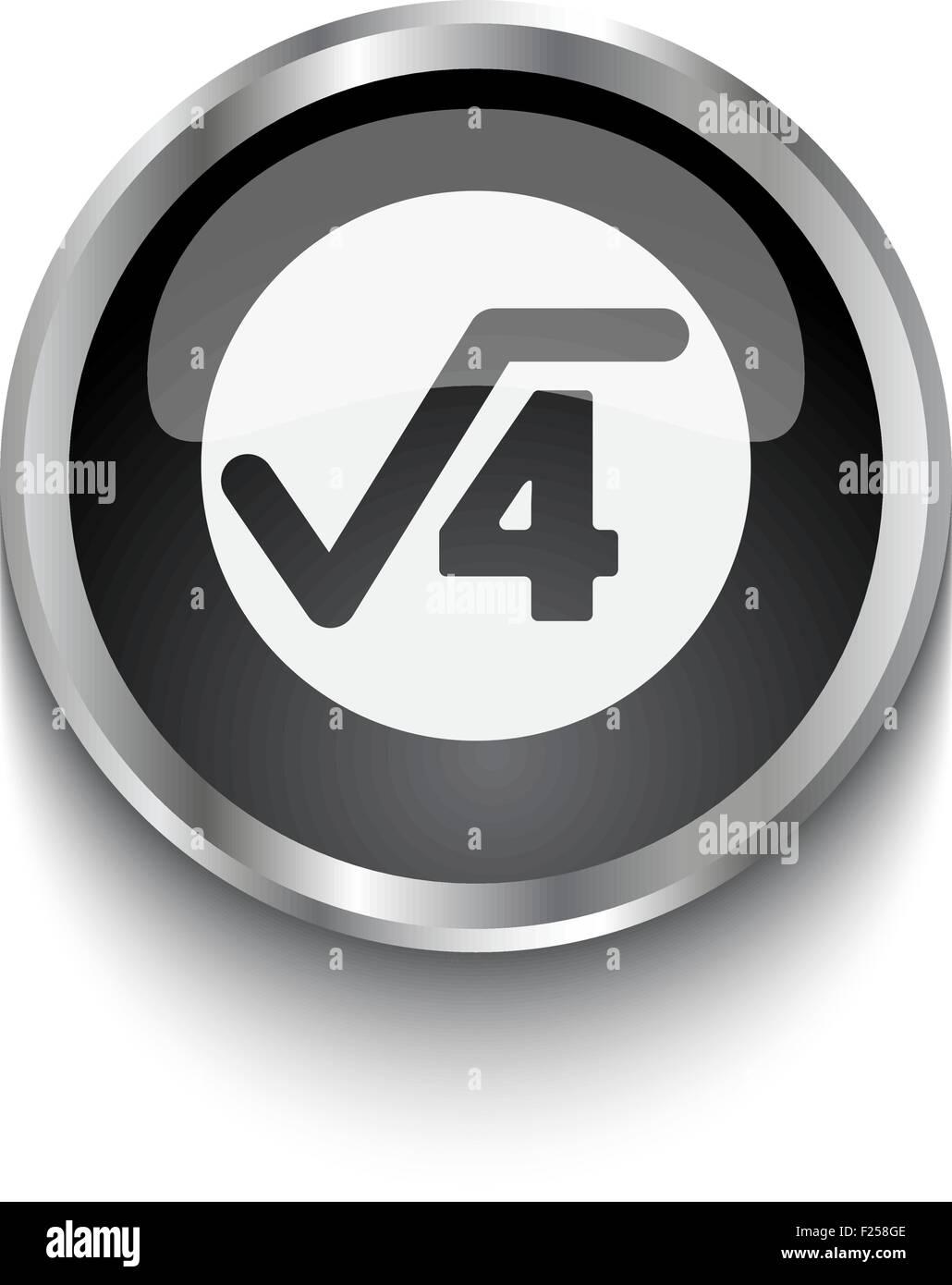 White square root symbol on black web button stock vector art white square root symbol on black web button buycottarizona Images