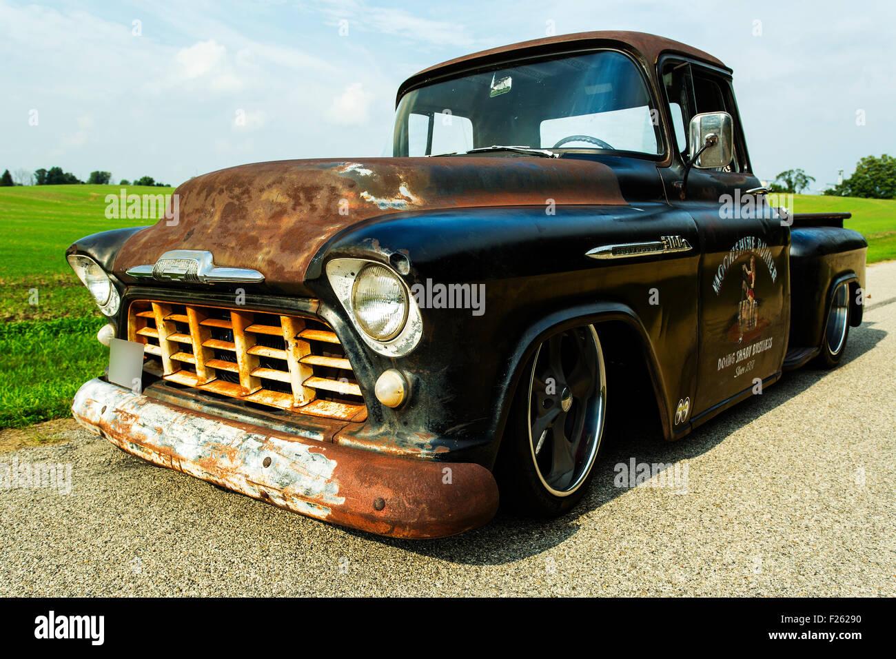 1956 Chevrolet Custom Rat Rod Pickup Truck Stock Photo: 87414684 - Alamy