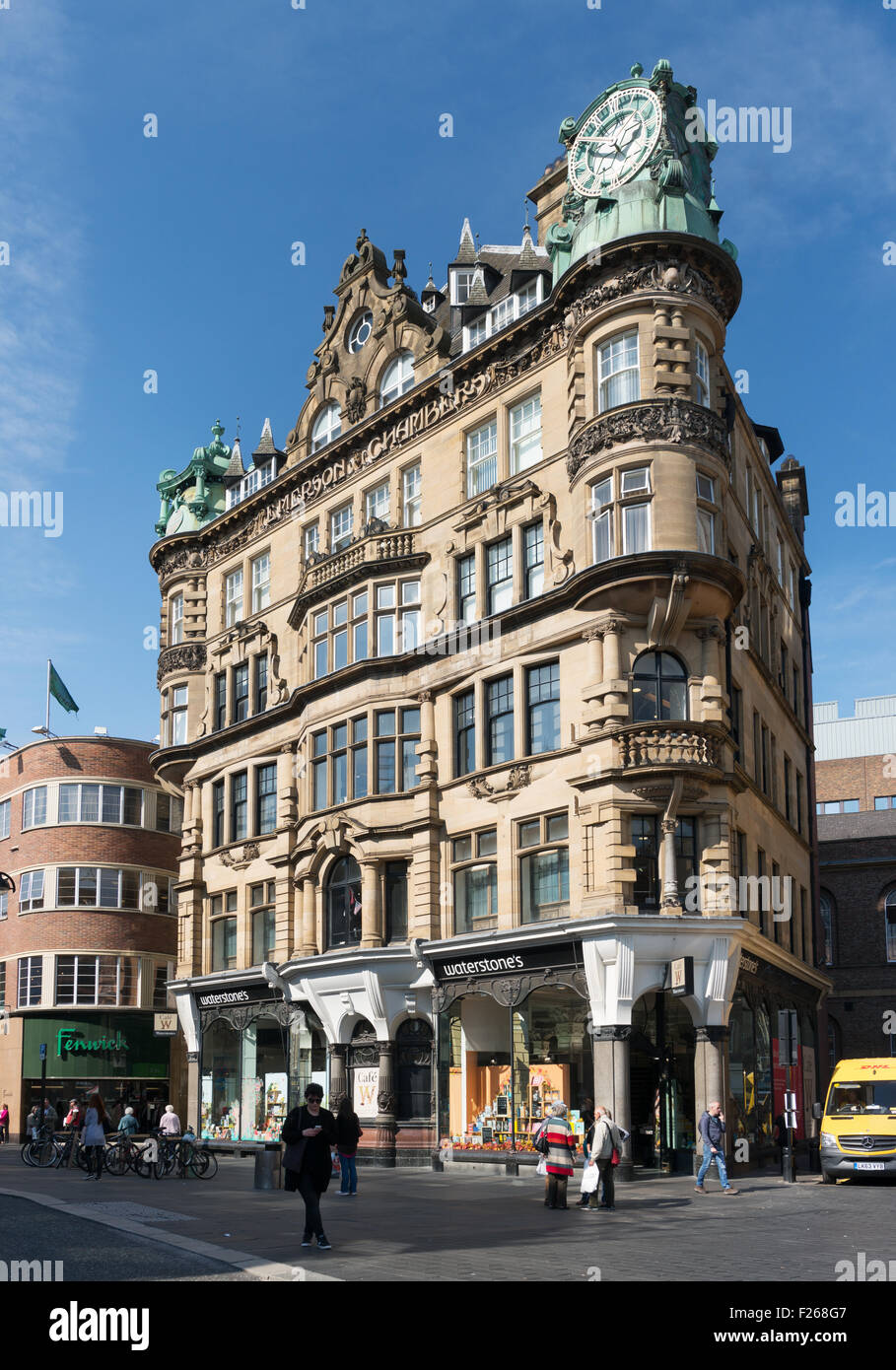 Emerson Chambers Art Nouveau 1903 Building By Architect Benjamin Stock Photo
