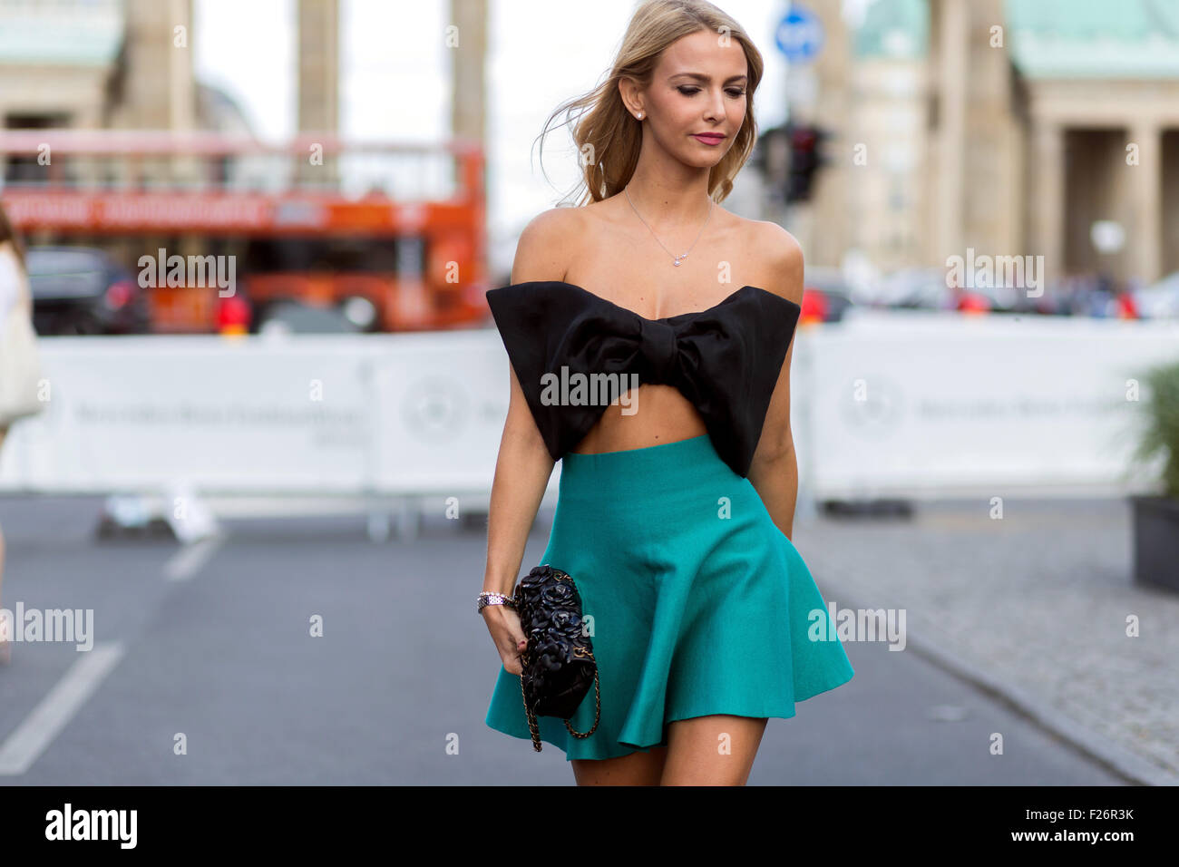 mercedes benz fashion week berlin spring summer 2016 streetstyle stock photo royalty free. Black Bedroom Furniture Sets. Home Design Ideas