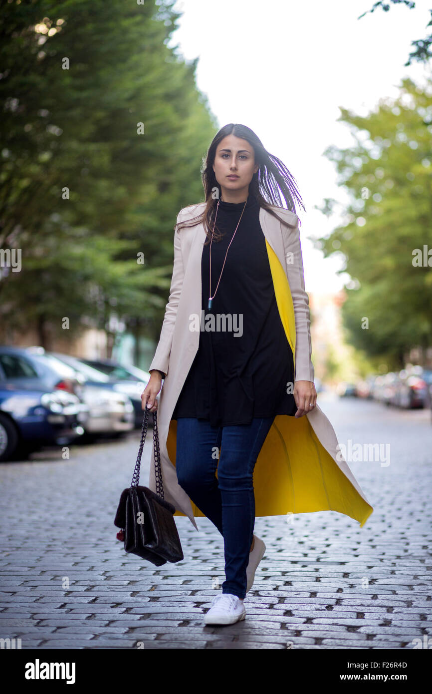 Mercedes Benz Fashion Week Berlin Spring Summer 2016 Streetstyle Stock Photo Royalty Free