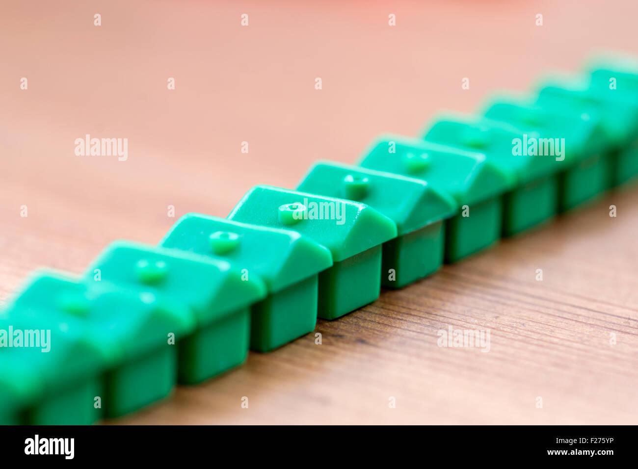 Plastic model houses