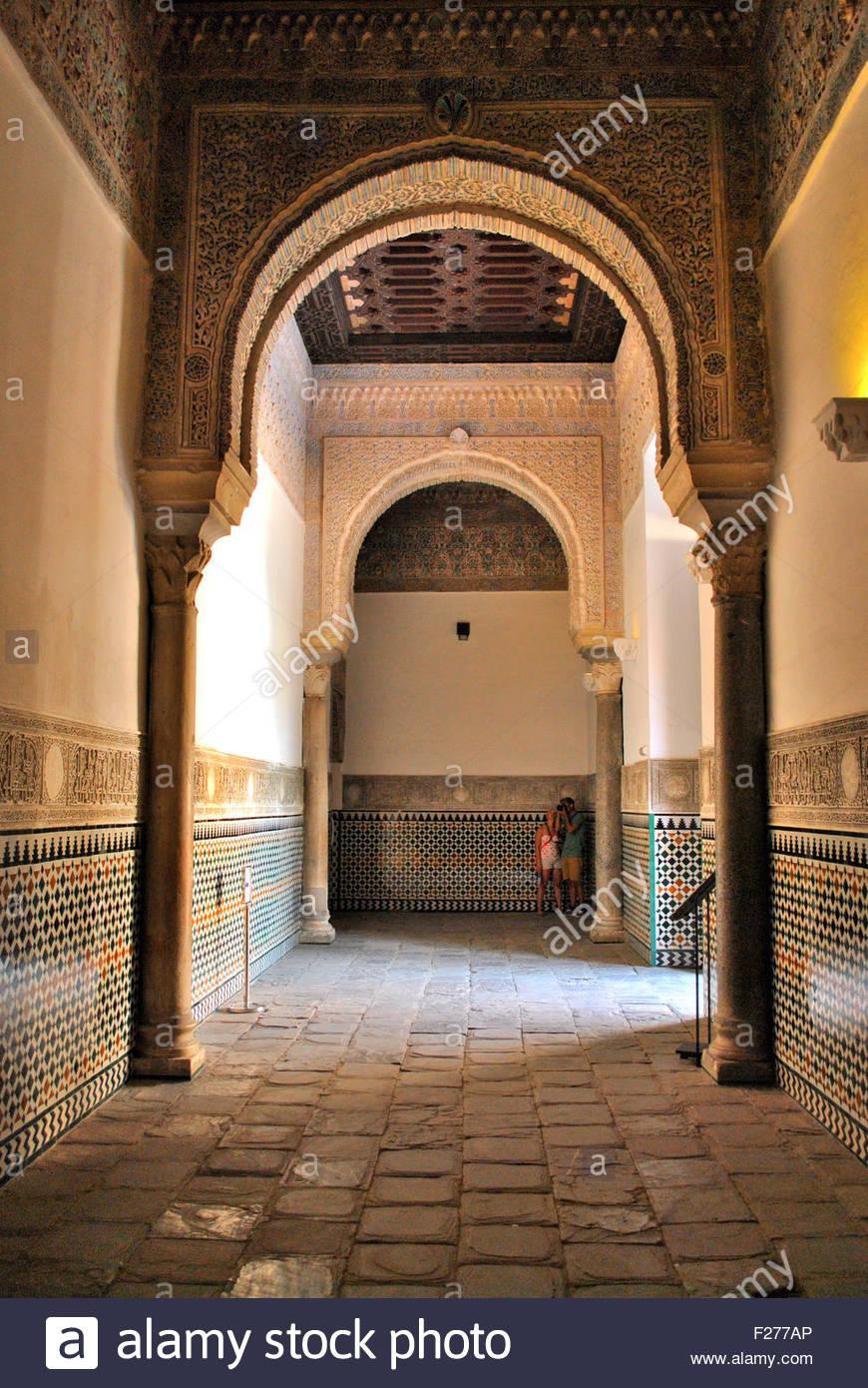 Arabic Style Interior Arches At Alcazar Sevilla