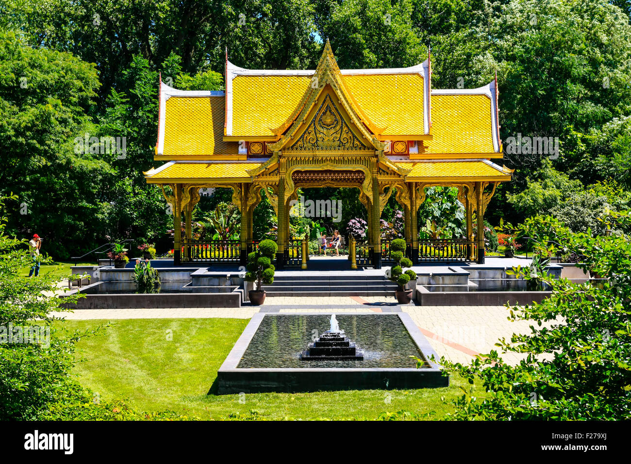 The Golden Thai Pavillion At Olbrich Botanical Gardens In Madison Wisconsin