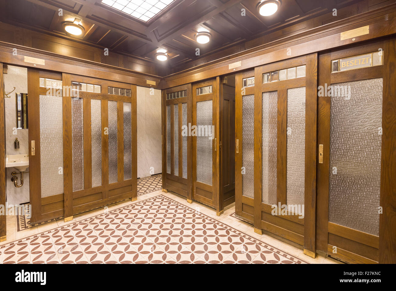 the famous public art nouveau toilet at graben in vienna austria stock photo royalty free. Black Bedroom Furniture Sets. Home Design Ideas