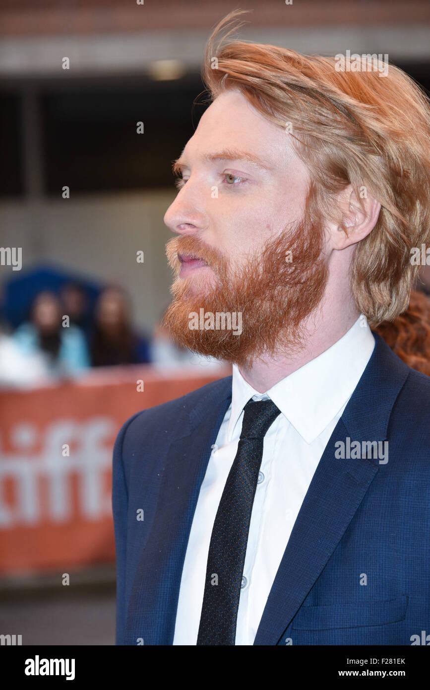 toronto ontario canada 13th sep 2015 actor domhnall gleeson