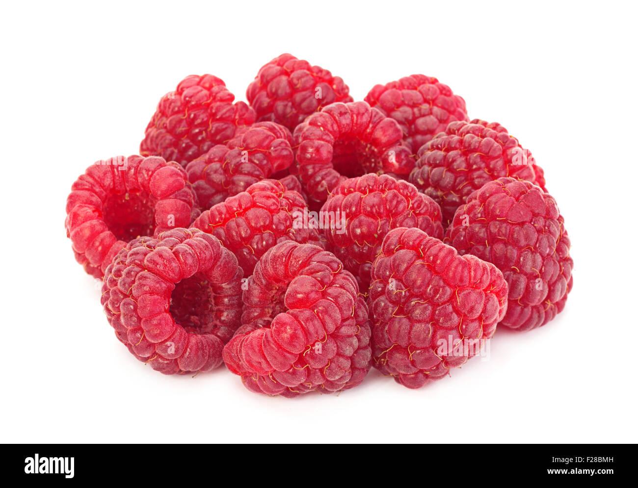 Sweet Raspberry Fruit Closeup Isolated On Stock Photo 62217775 ...