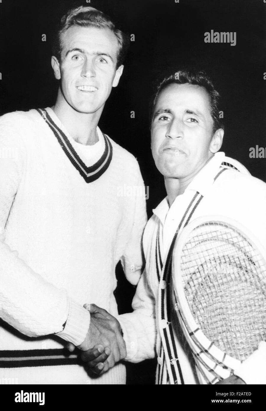 Tennis Pros Ecuador s of Pancho Segura right and Ken McGregor
