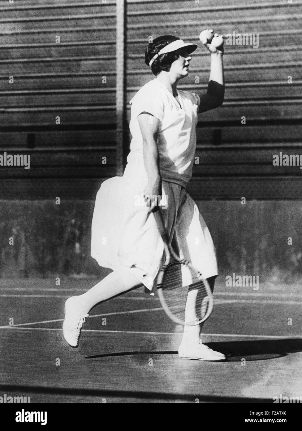 Helen Wills during a practice game at San Francisco June 1925