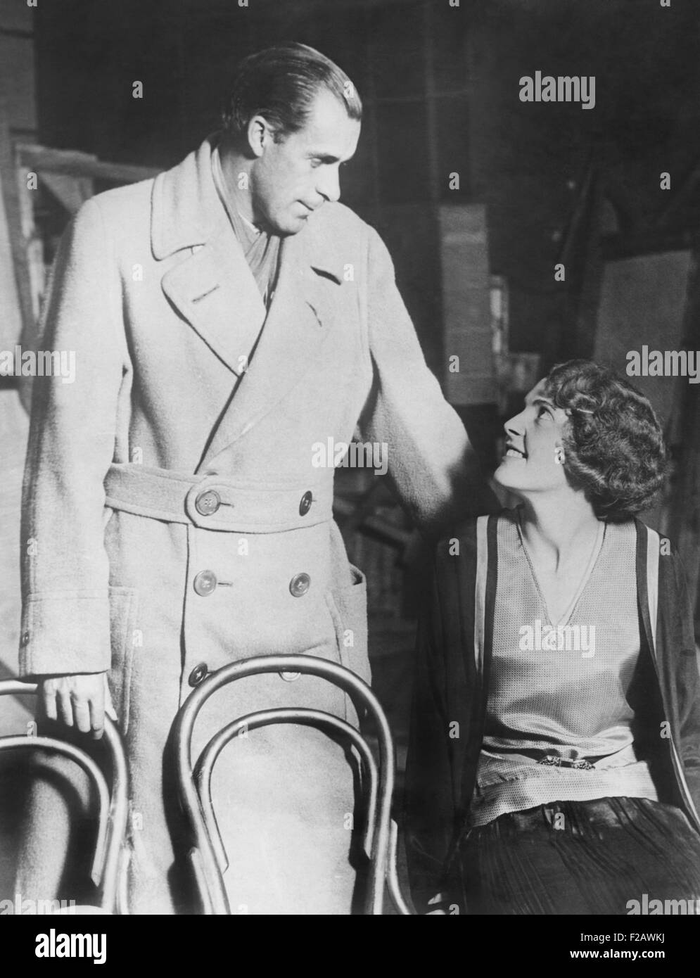 Bill Tilden rehearsing with his leading lady actress Diana