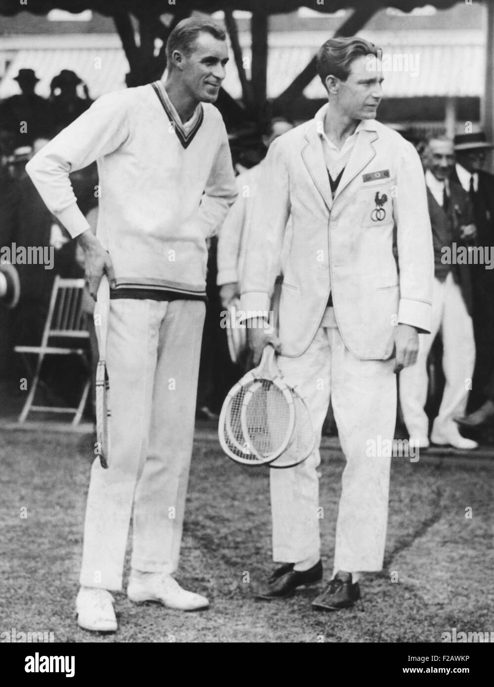 Bill Tilden right defeated Jean Borotra of France in the Davis