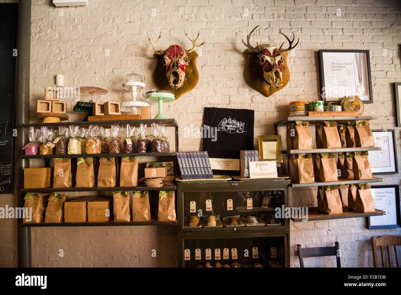 Hot Chocolate cafe interior wall display in Wicker Park August 2 ...