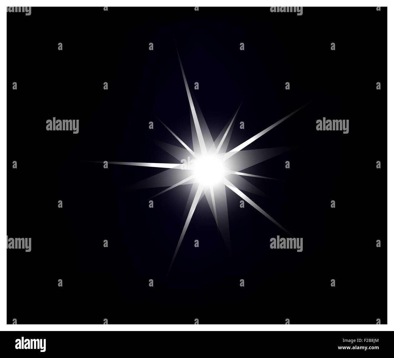 vector sparkling and glowing light effect star on black