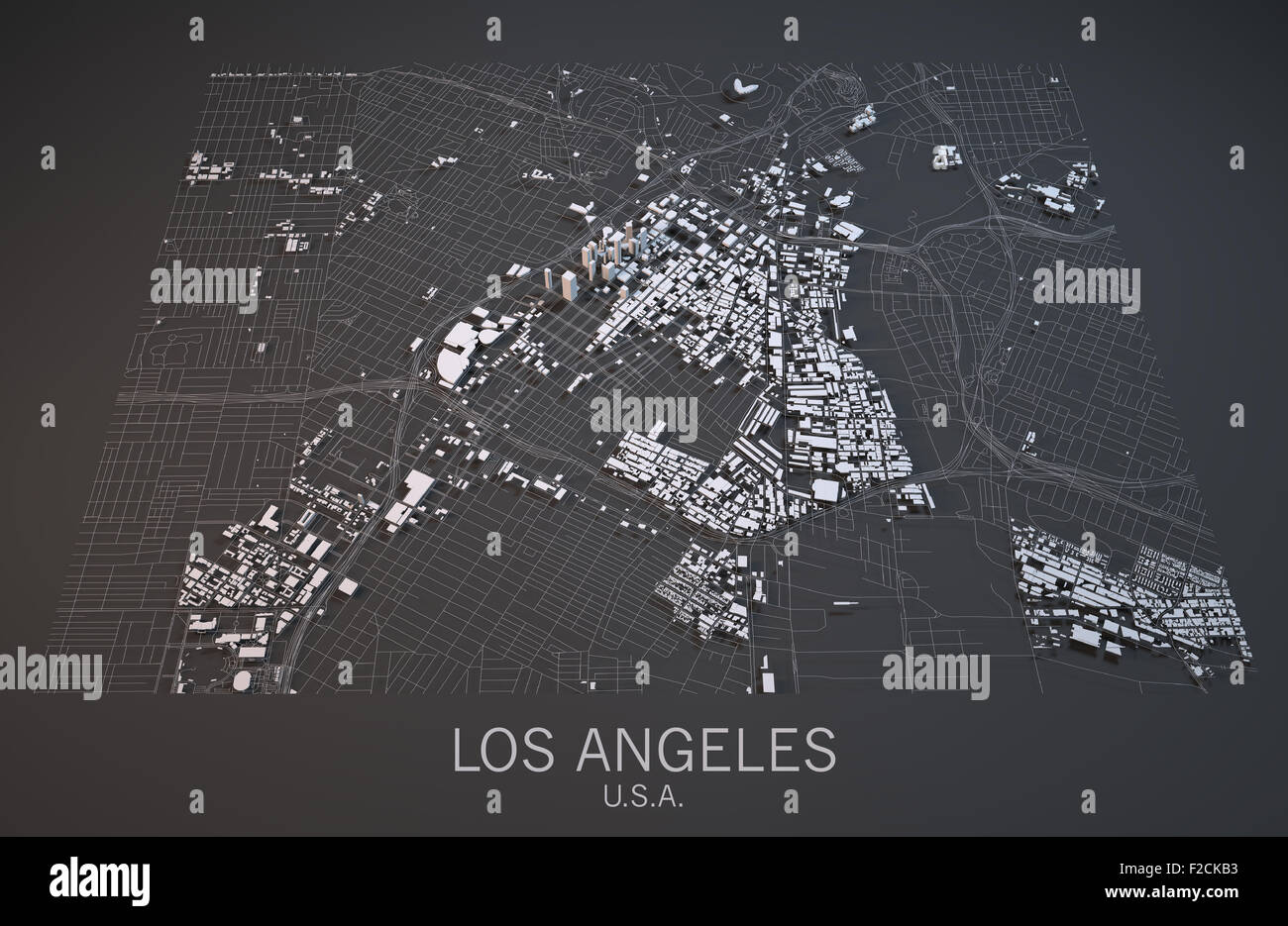 Satellite View Of Los Angeles Map United States Of America Usa 3d