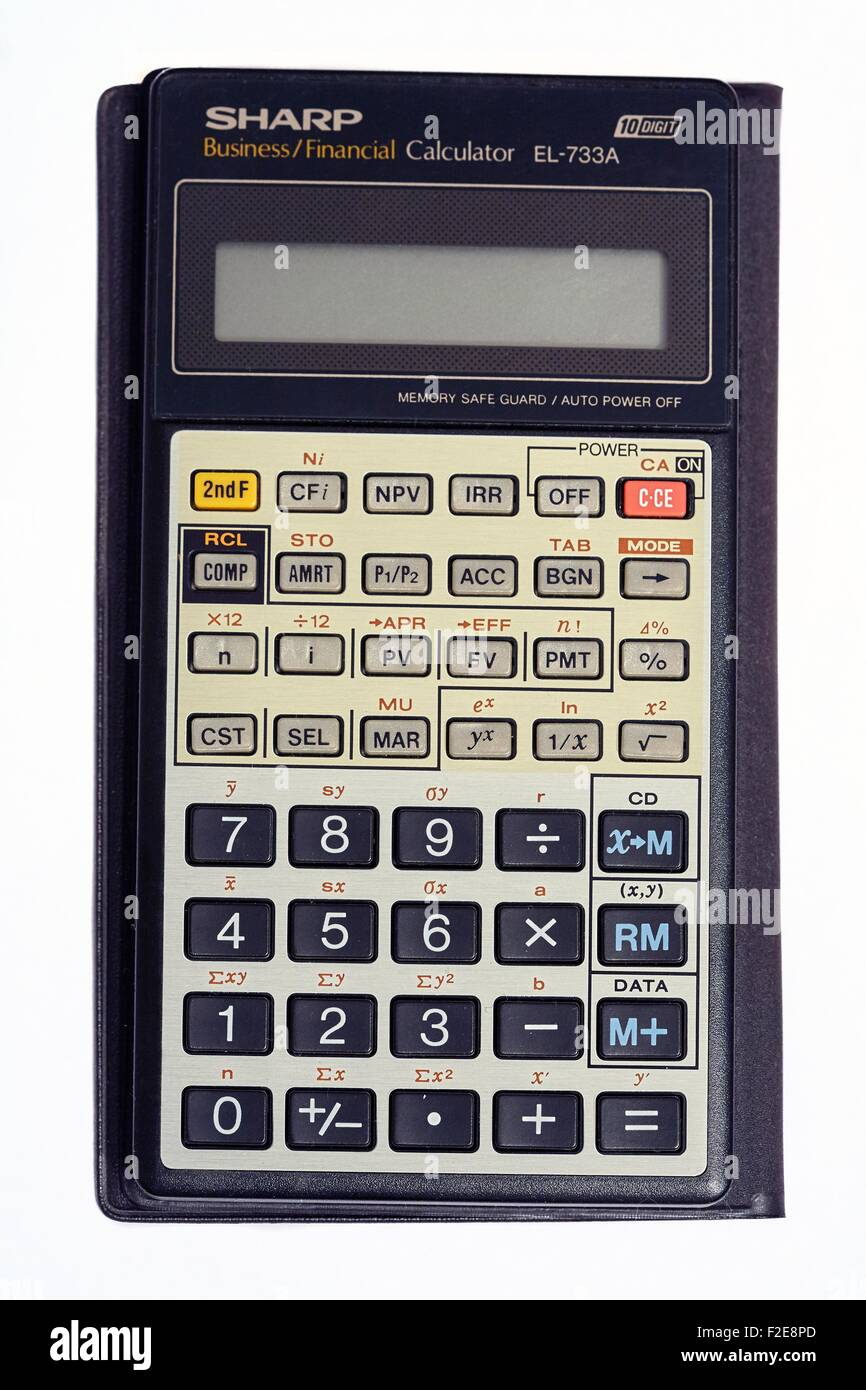 Sharp Business Financial Calculator EL-733A Stock Photo: 87595381 ...