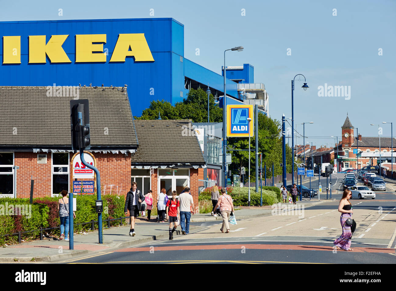 Ikea Furniture Store Exterior On A Sunny Day In Aston Under Lyne  # Muebles Jardin Ikea