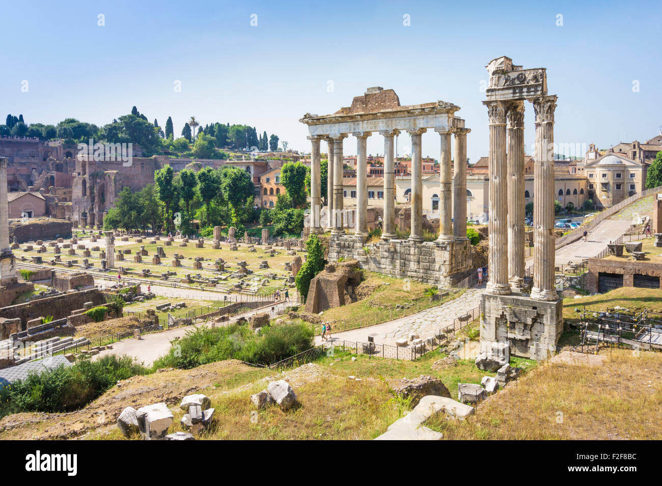 Forum Romanum Rome Roman archaeology Italy Italian Stock Photo ...