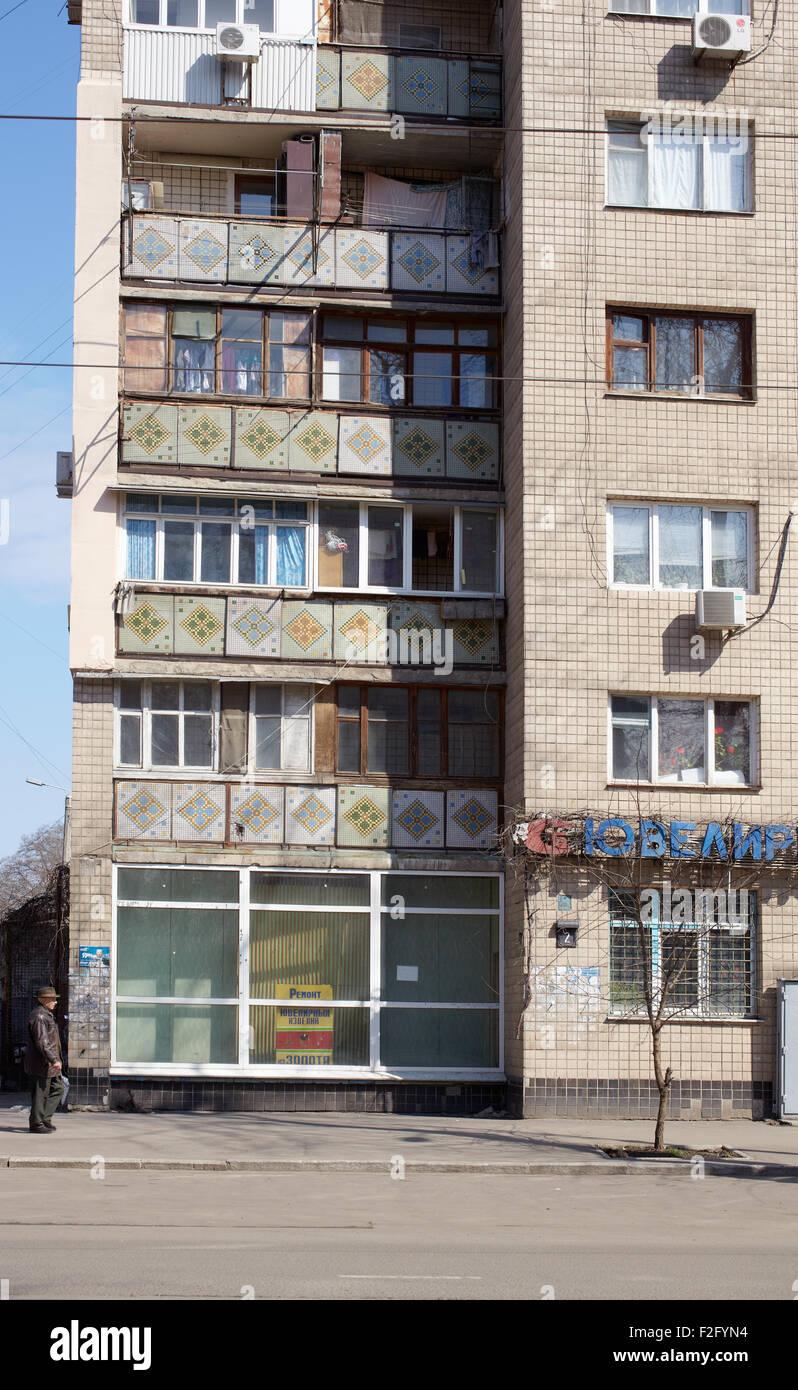 Soviet Era Apartment Block In Odessa   Ukraine