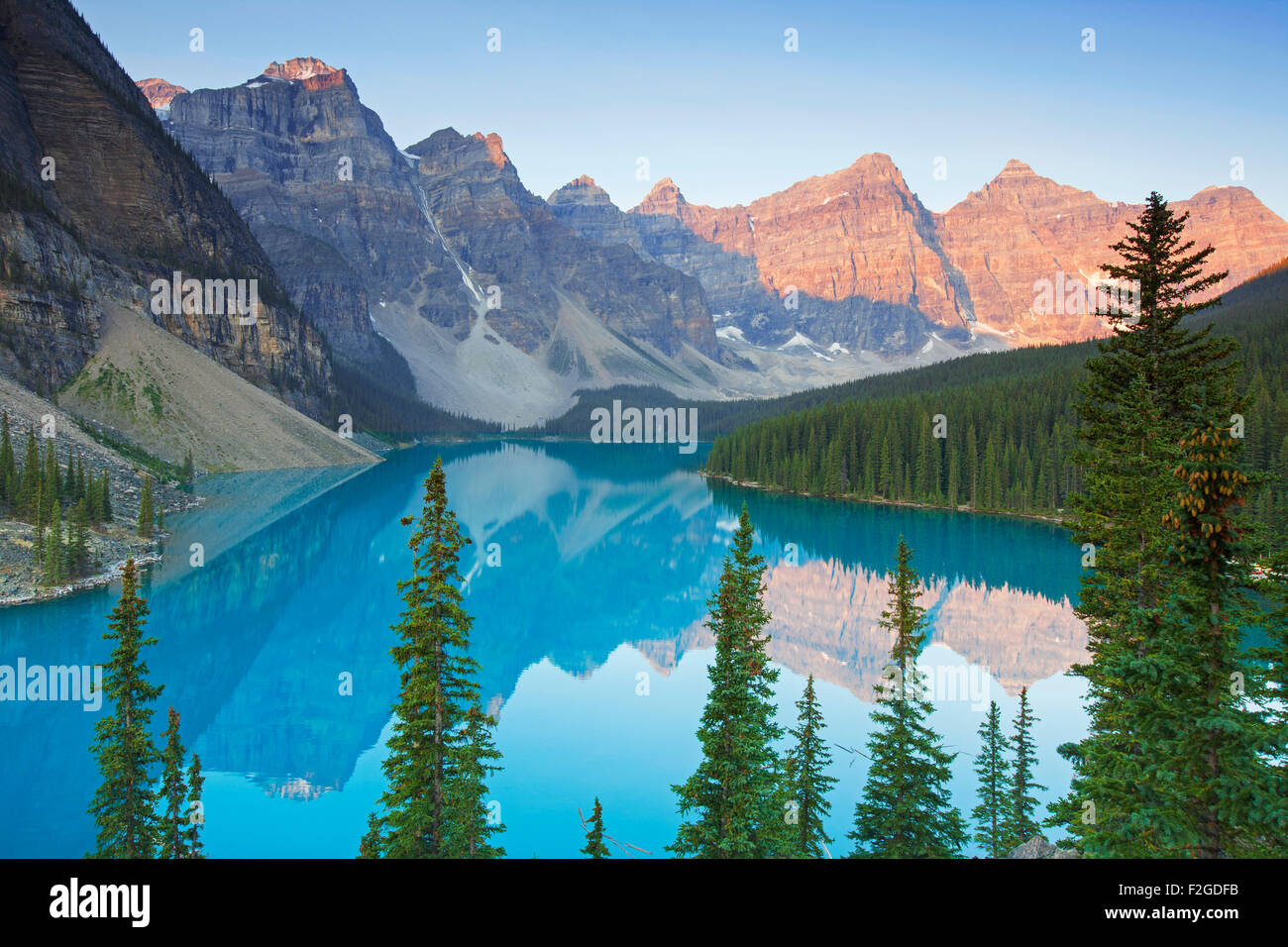 Glacial Moraine Lake in the Valley of the Ten Peaks Banff National Park Alberta & Rocky Mountains Stock Photos u0026 Rocky Mountains Stock Images - Alamy