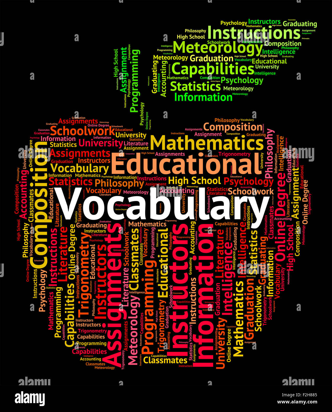 Worksheet How To Spell Vocabulary vocabulary word representing glossary spellings and spell stock photo spell