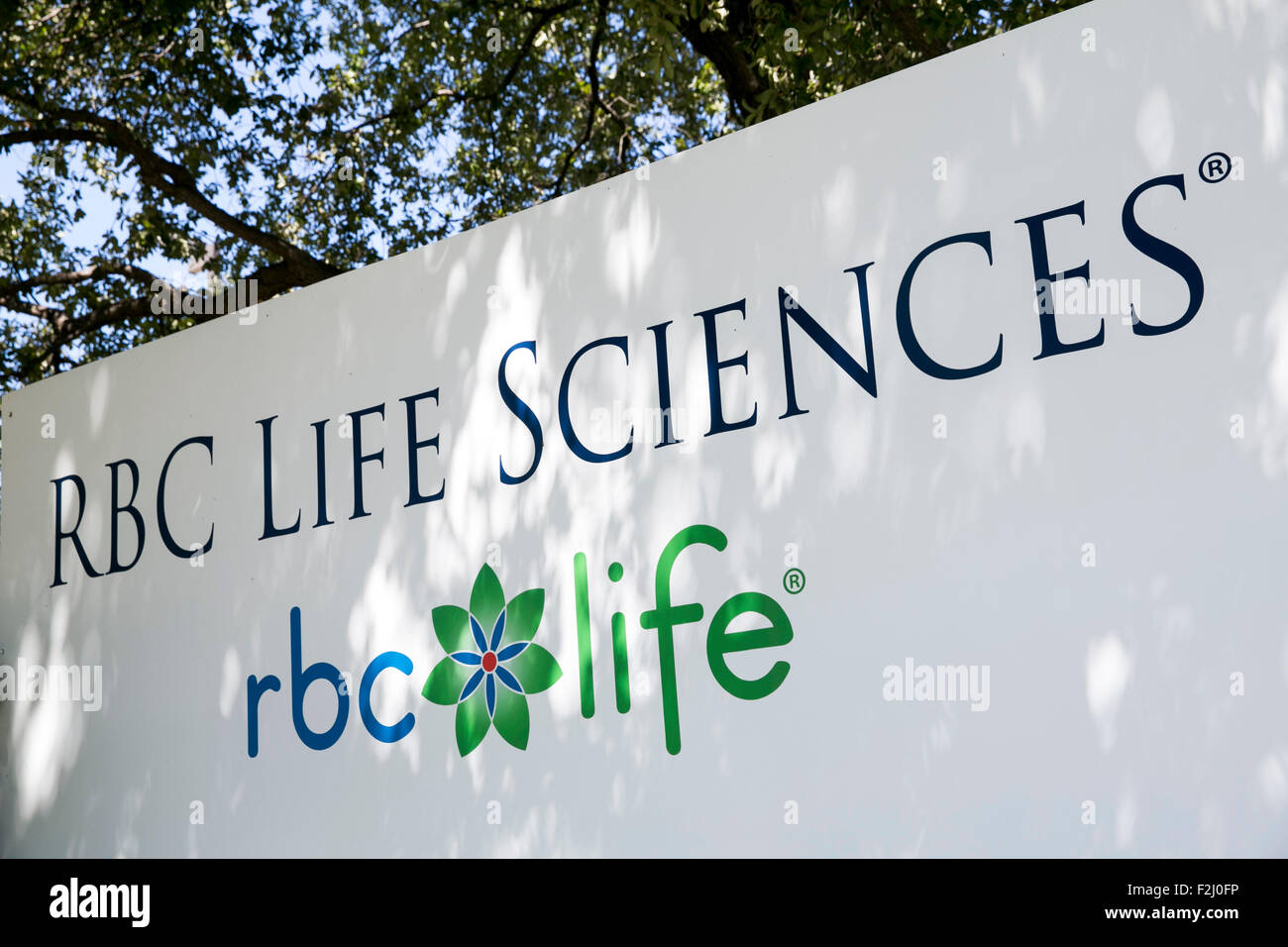 A Logo Sign Outside Of The Headquarters Of Rbc Life Sciences, Inc, In