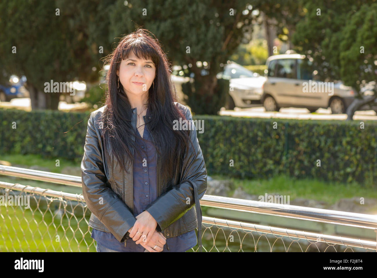 Kinder Garden: Portrait Of An Ukrainian Girl Visiting Rome Stock Photo