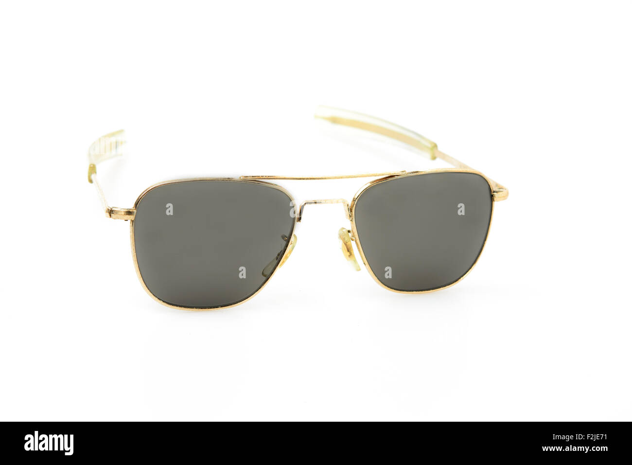 Square Gold Frame Sunglasses : Square gold frame sunglasses, vintage style Stock Photo ...