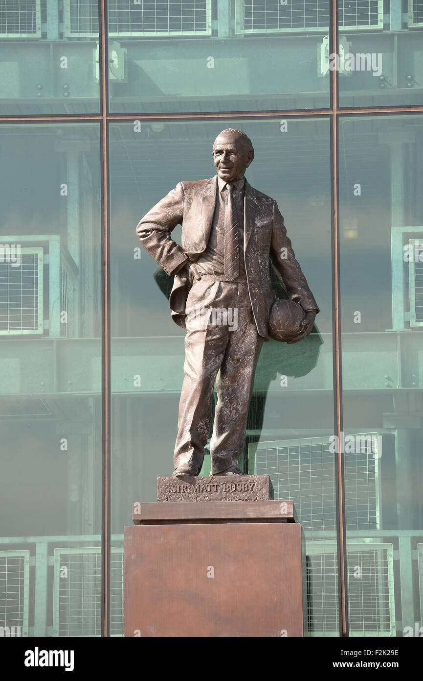 The Sir Bobby Charlton Statue outside Manchester United Football
