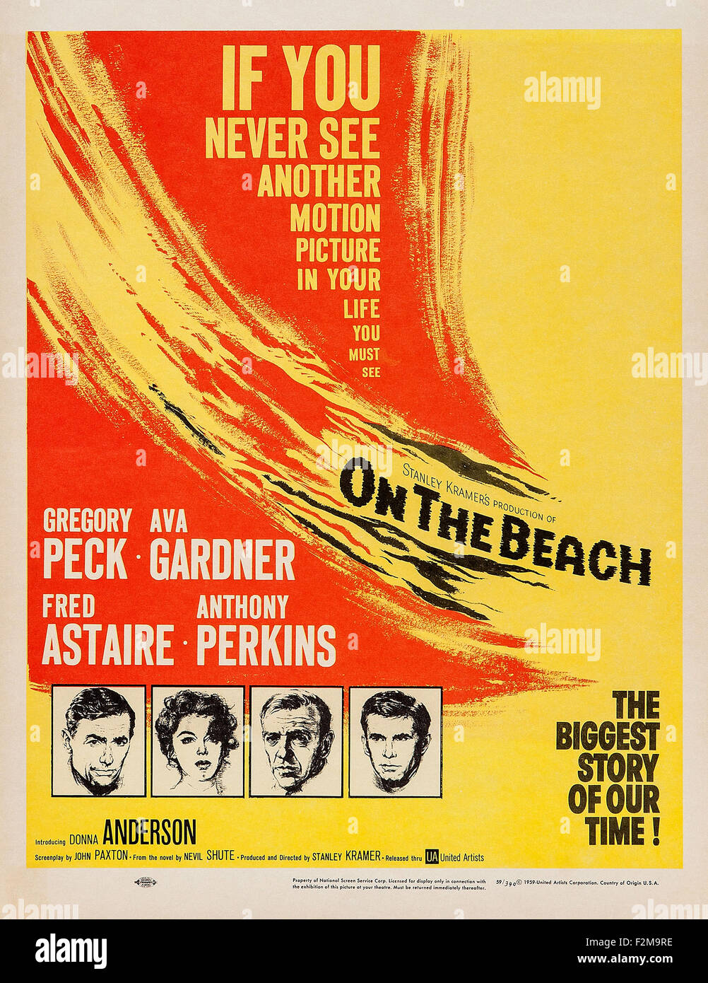on the beach 1959 movie poster stock photo royalty
