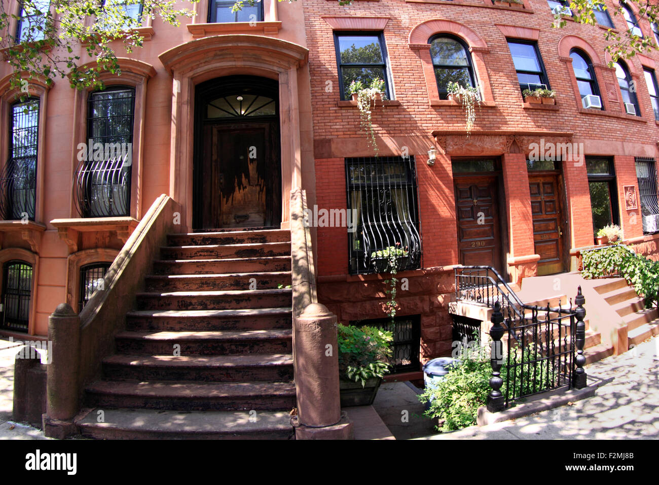 Brownstone apartments Brooklyn New York City Stock Photo, Royalty ...