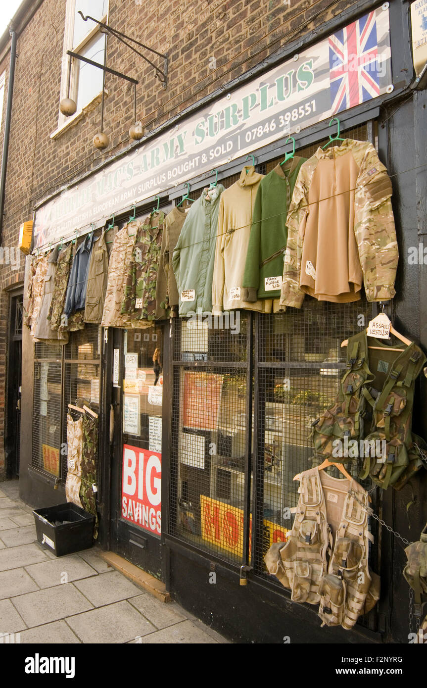 Military clothing store