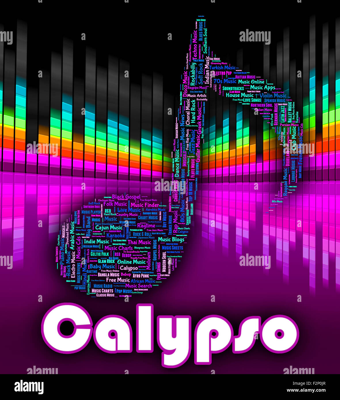 Calypso music showing sound track and singing stock photo for Italian house music