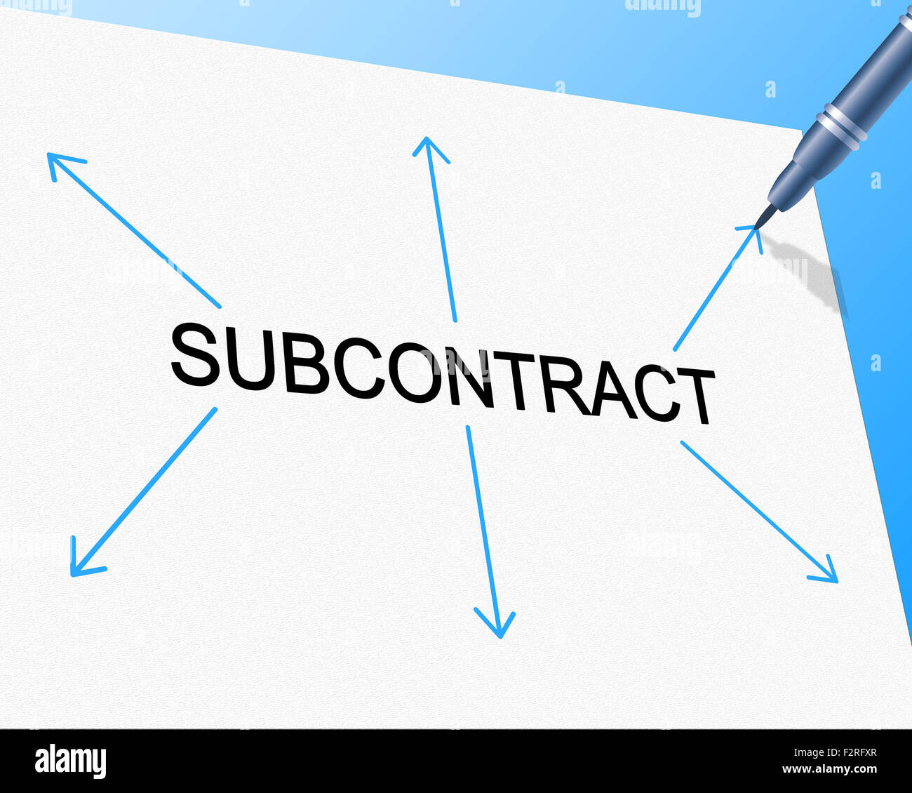 Subcontract Subcontracting Showing Independent Contractor