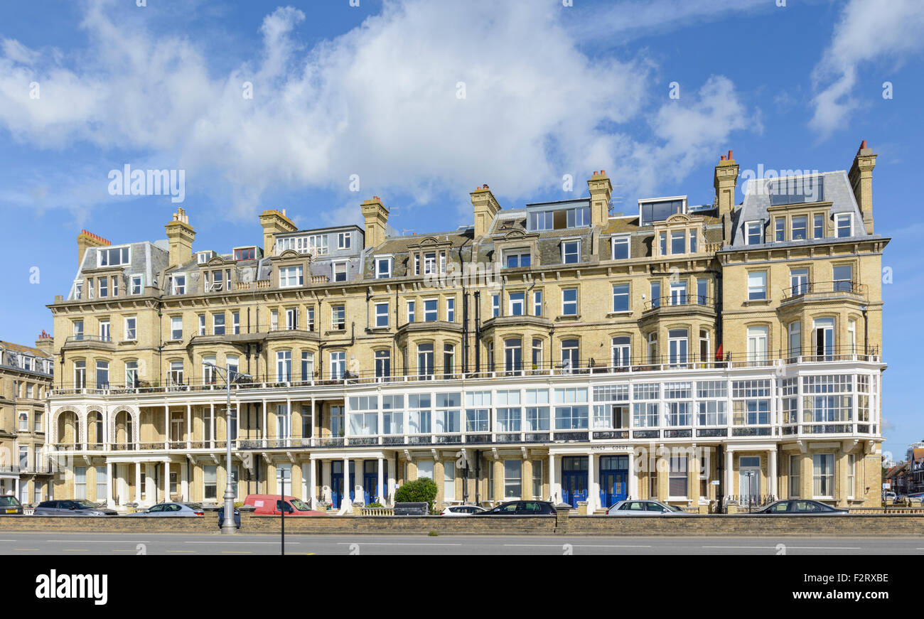 Kings Court seafront terrace in Kings Gardens Hove Brighton and