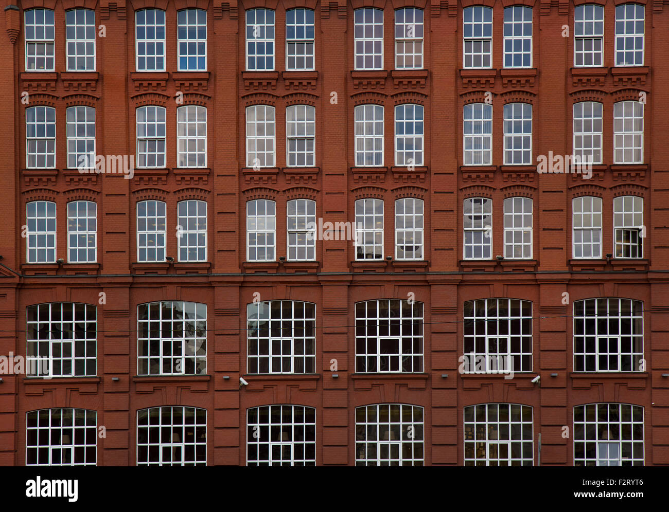 brick building windows stock photos & brick building windows stock