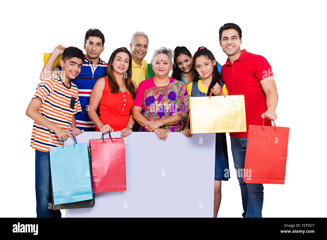 indian group Joint Family Message Board showing and shopping bag ...
