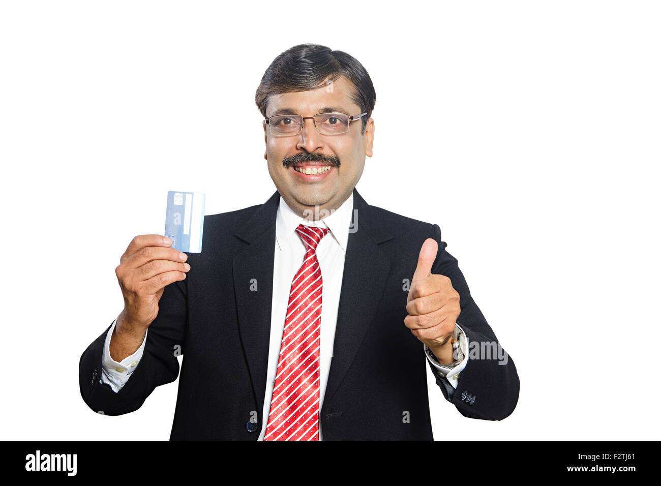 1 indian business man credit card showing thumbs up showing stock 1 indian business man credit card showing thumbs up showing reheart Choice Image