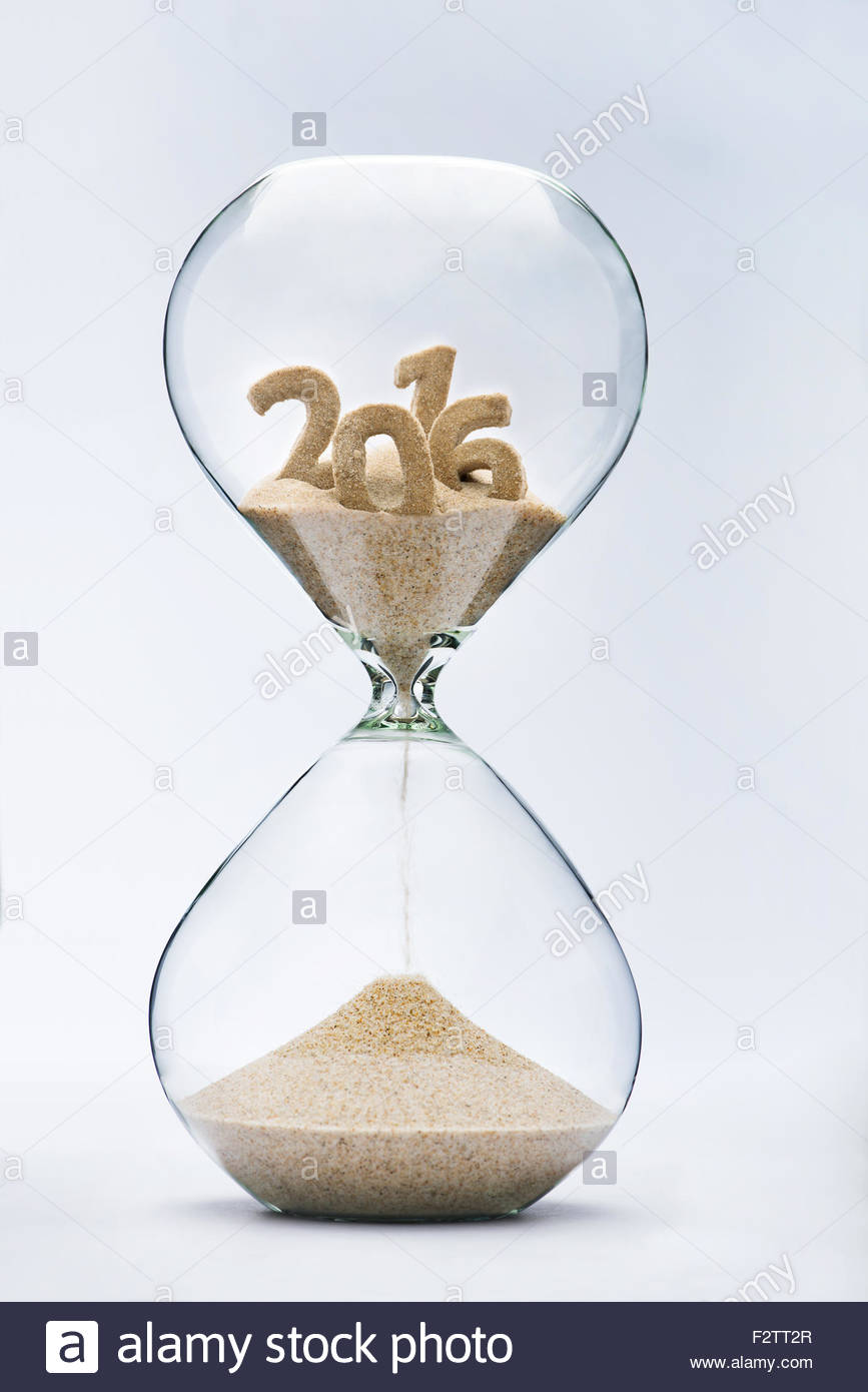 time running out concept with hourglass falling sand from 2016 stock photo  royalty free image