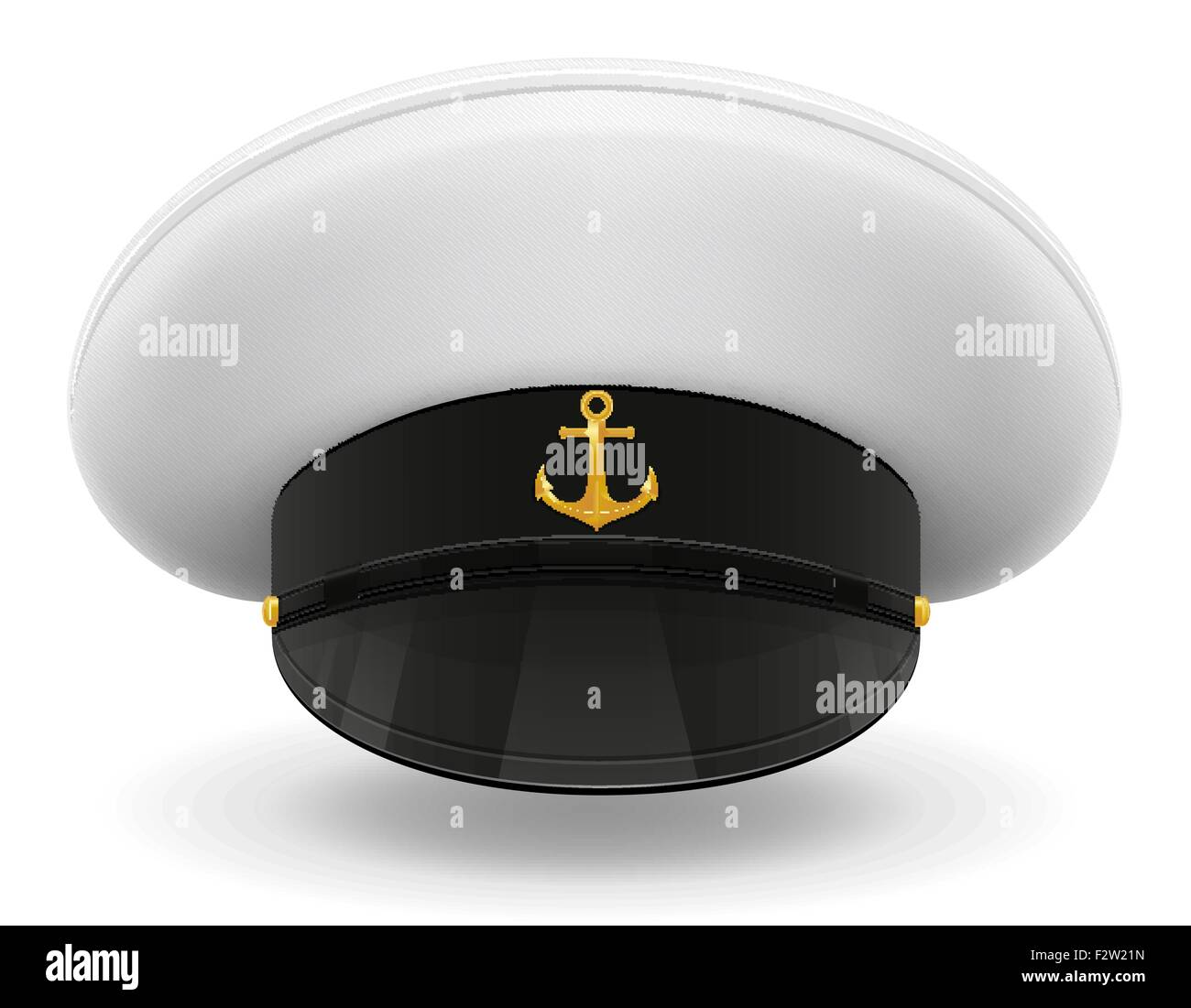 Sailor stock photos illustrations and vector art - Stock Vector Professional Uniform Cap Or Captain Sailor Vector Illustration Isolated On White Background