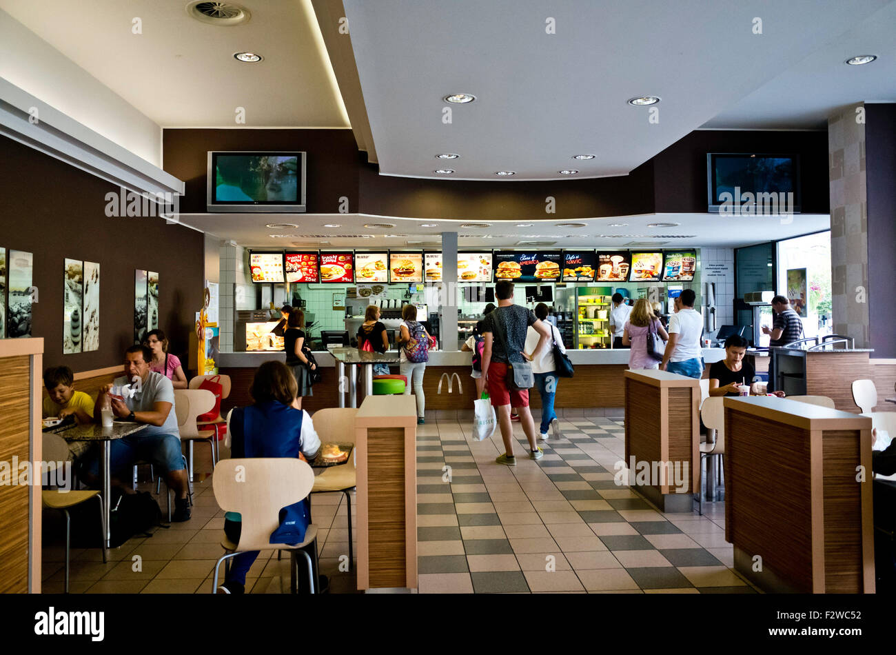 mcdonalds restaurant interior with clients in queue and at mcdonald s interior monterey ca steven wilson flickr
