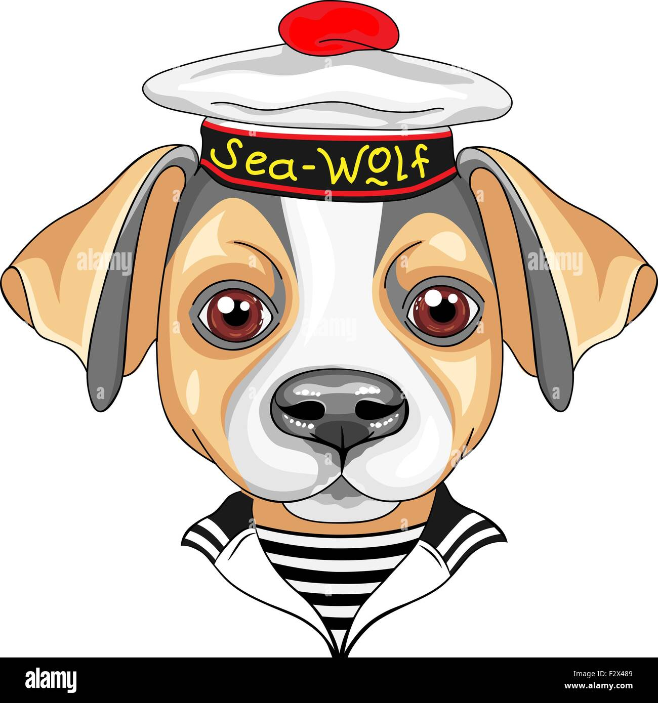 Sailor stock photos illustrations and vector art - Stock Vector Vector Cartoon Dog Jack Russell Terrier Sailor