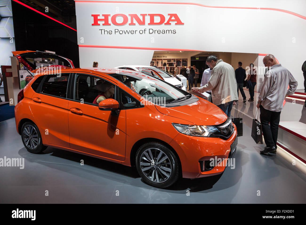 Presentation of the new honda jazz compact car at the iaa international motor show 2015