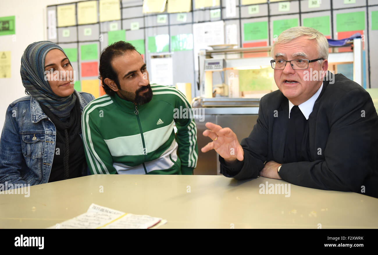 Captivating Berlin, Germany. 25th Sep, 2015. Archbishop Heiner Koch (R) Talks To  Nauuras And Hiba From Syria During A Visit To The Elisabeth Haus Refugee  Accommodation ... Great Ideas