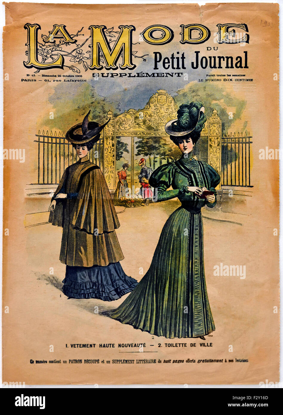 La mode du petit journal 1906 french paris fashion couture designer stock pho - Le journal de la mode ...